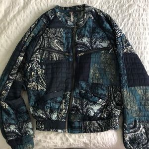 Free People Patchwork Bomber